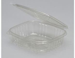 Genpak Clear Pet Deli Container with Hinged Lid, 7.15 Inch x 6.34 Inch x 1.82 Inch -- 200 per case