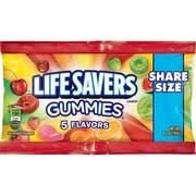 Life Savers 5 Flavors Plain Gummies - 15 count per pack -- 6 packs per case.
