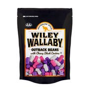 Wiley Wallaby Outback Black Beans Candy, 10 Ounce -- 10 per case.