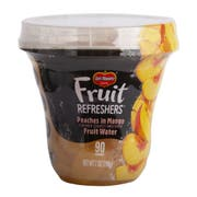 Delmonte Peaches in Mango Flavored Slightly Sweetened Fruit Water, 7 Ounce Cup -- 12 per case.