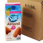 Silk Unsweetened Pure Almond Milk, 64 Ounce -- 6 per case.