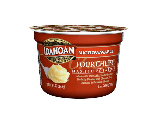 Idahoan Four Cheese Mashed Potatoes Cup, 1.5 Ounce -- 10 per case.