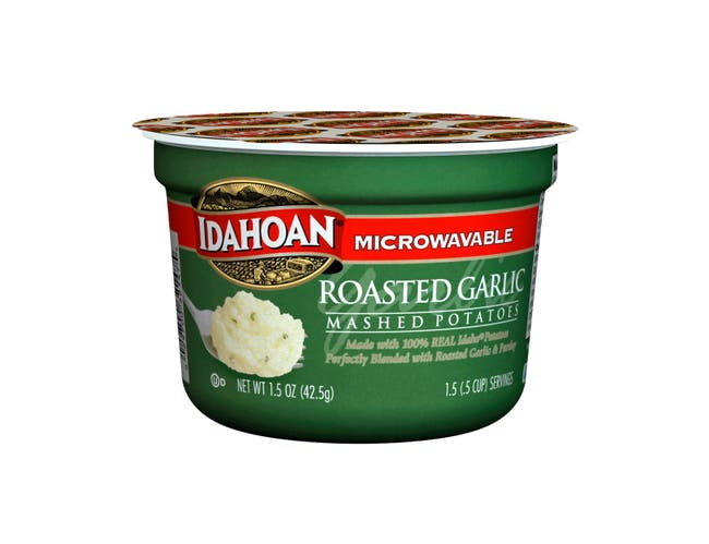Idahoan Roasted Garlic Mashed Potato Cup, 1.5 Ounce -- 10 per case.