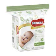 Huggies Natural Care Fragrance Free Baby Wipes - 184 per pack -- 3 packs per case.