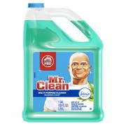 Mr. Clean Multipurpose Cleaning Solution with Febreze, 128 oz Bottle, Meadows & Rain Scent