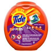 Tide Pods Spring Meadow Scent Laundry Detergent, 72 count per pack -- 4 per case.