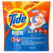 Tide Pods Original Scent Turbo Laundry Detergent Liquid, 16 count per pack -- 6 per case.