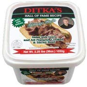 Ditkas Chicago Style Italian Beef and Gravy -- 6 per case.