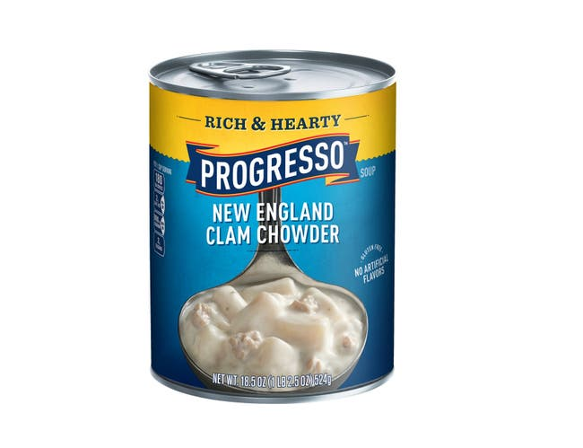 Progresso Rich and Hearty New England Clam Chowder Soup, 18.5 Ounce -- 12 per case.