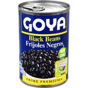 Goya Black Beans - 16 oz. can, 24 cans per case.