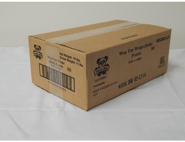 Wing Hing Wonton Regular Wrap, 10 Pound -- 1 each.