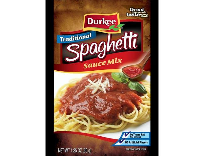 Durkee Spaghetti Sauce Mix, 1.25 Ounce --- 24 per case
