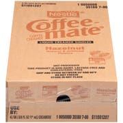 Coffee-Mate Hazelnut Liquid Creamer - 50/0.375 oz. cups per box, 4 boxes per case