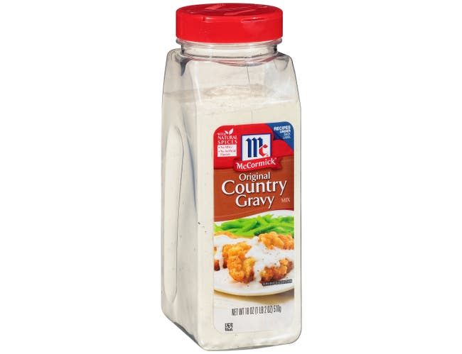 McCormick Country Gravy Mix, 18 Ounce -- 12 per case.