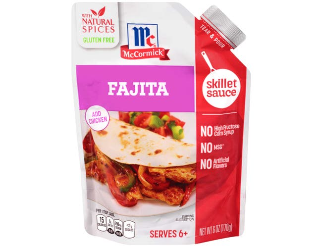 McCormick Fajita with Roasted Chili Garlic and Lime Skillet Sauce, 6 Ounce -- 6 per case.