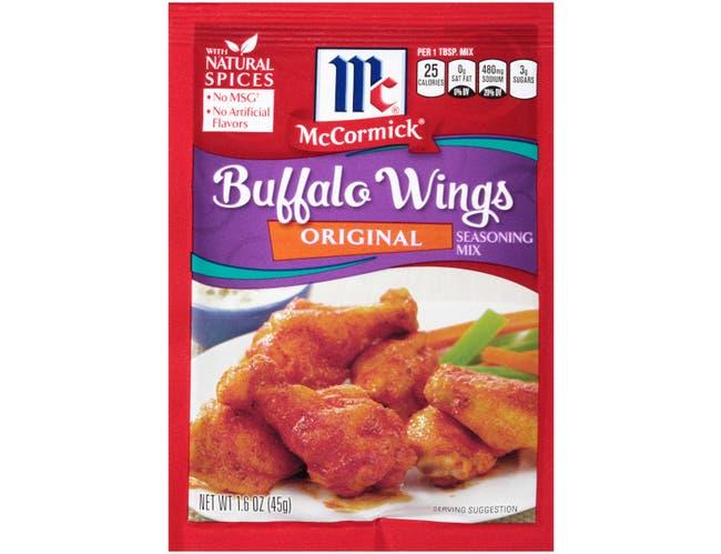 McCormick Original Buffalo Wings Seasoning Mix, 1.6 Ounce -- 12 per case.