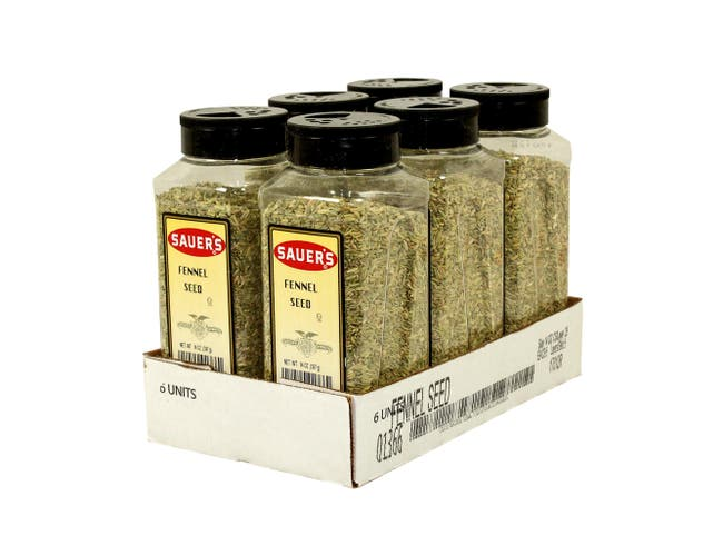 C.F. Sauer Foods Fennel Seed, 14 Ounce -- 6 per case.