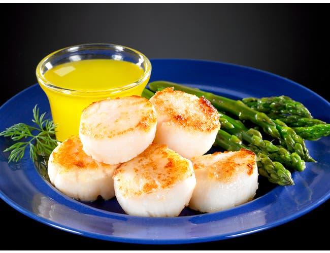 Frozen Seafood Premium 10 to 20 Count Dry Sea Scallops, 5 Pound -- 2 per case.