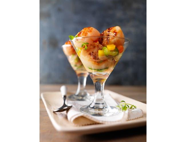 Frozen Seafood Premium U/10 Dry Sea Scallops, 5 Pound -- 2 per case.