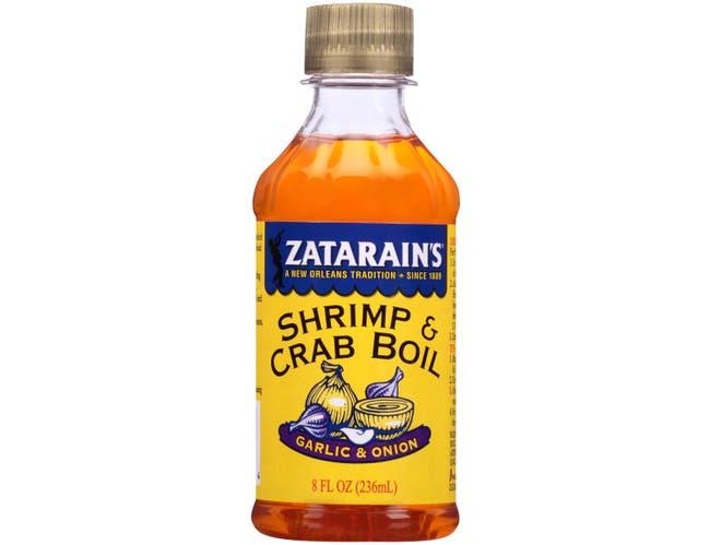 Zatarains Garlic and Onion Liquid Shrimp and Crab Boil, 8 Ounce -- 12 per case.
