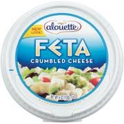 Alouette Crumbled Feta Cheese, 4 Ounce Cup -- 12 per case.