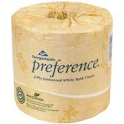 Georgia Pacific Professional Two-Ply Embossed Bath Tissue, Dispenser Box, 550 Sheets/Roll, 40 Rolls/Carton