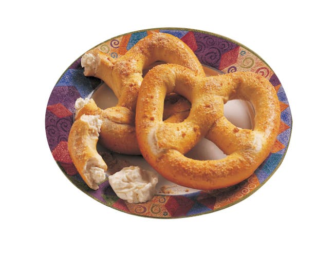 J and J Snack Sweet Dream Cream Cheese Pretzel Fillers, 3.5 Ounce -- 48 per case.
