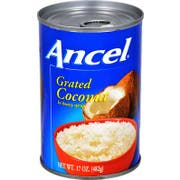 Goya Ancel Grated Coconut in Syrup, 17 Ounce -- 24 per case.