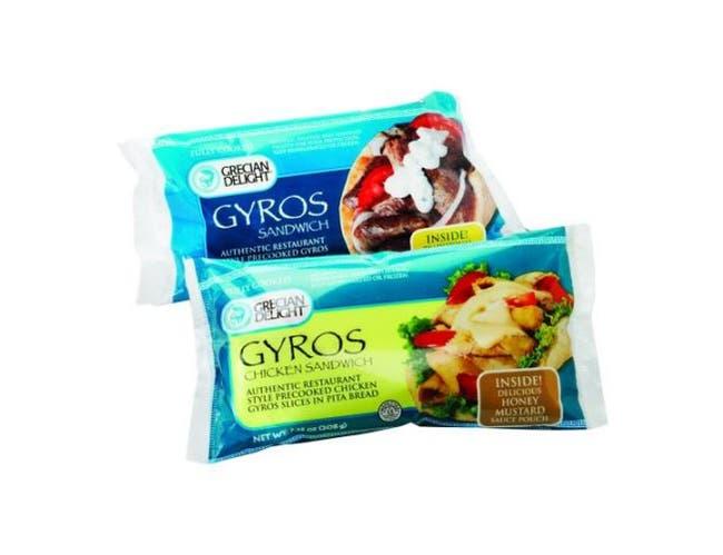 Grecian Delight Precooked Gyro Chicken Sandwich -- 12 per case.