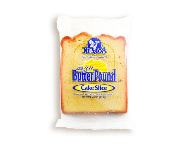 Ne-Mos All Butter Pound Cake Slice, 4 Ounce -- 12 per case.