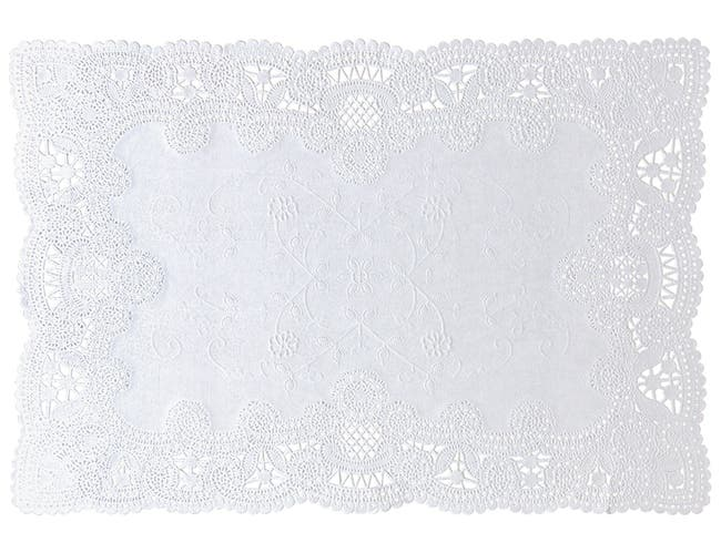Hoffmaster 25-52470 White Normandy Lace - Cake Laces Doily, 10 x 14 inch -- 1000 per case.