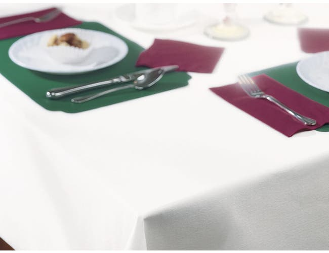 Hoffmaster 8108-W Linen-Like White Table cover, Banquet Size 50 x 108 inch -- 24 per case.