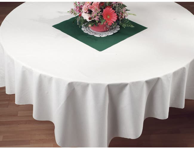 Hoffmaster Linen Like White Folded Tablecover, 72 x 72 inch -- 24 per case.