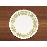 Hoffmaster 306 Specialty Sanitary Gold Greek Key Coasters Budgetboard, 3.375 inch -- 2500 per case.