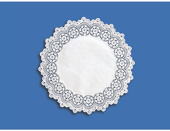 Hoffmaster 25-14320 Round White Kenmore Lace - Cake Lace Doily, 14 inch -- 1000 per case.