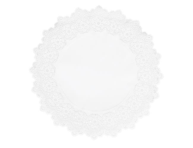 Hoffmaster Brooklace Kenmore Round Cake Lace Doily, 16.5 inch -- 1000 per case.