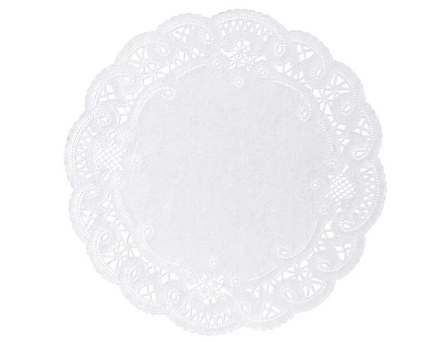Hoffmaster Brooklace French Lace Doily, 8 inch -- 1000 per case.