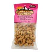 Mountain Country Jumbo Whole Fancy Cashew, 3.5 Ounce -- 6 per case.