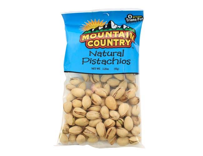 Mountain Country Natural Pistachio, 3.25 Ounce -- 6 per case.
