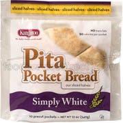 Kangaroo White Pita Pocket Bread, 12 Ounce -- 12 per case.