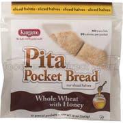 Kangaroo Whole Wheat Honey Pita Pocket Bread, 12 Ounce -- 12 per case.