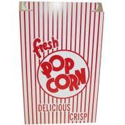 Dixie Red and White Automatic Bottom Popcorn Box, 3 x 8 x 11 inch -- 250 per case.