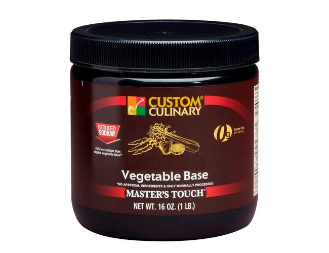 Masters Touch All Natural Reduced Sodium Vegetable Base, 1 Pound -- 6 per case.
