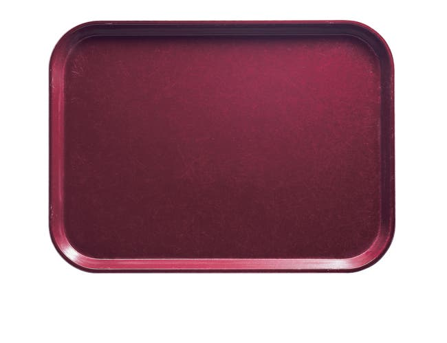 Cambro Rectangular Camtray, Burgundy Wine, 15 x 20.25 inch -- 12 per case.