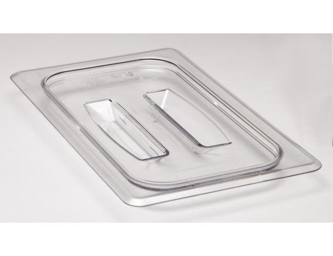 Camwear Clear Cover with Handle Only for One Fourth Size Food Pan, 6 3/8 x 10 7/16 inch -- 1 each.