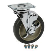 Cambro Replacement Brake Swivel Caster Only, 5 inch -- 1 each.