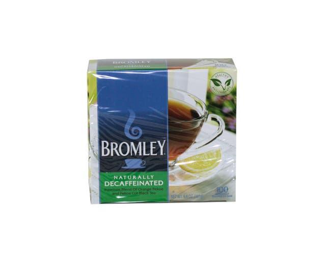 Bromley Naturally Decaffeinated Tea, 6.4 ounce - 100 tea bags per box, 5 boxes per case