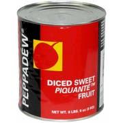 Peppadew Diced Mild Red Pepper, 105 Ounce -- 2 per case.