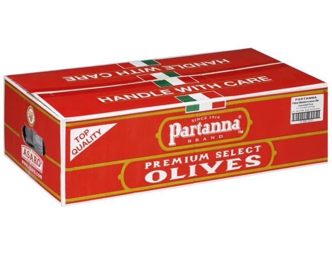 Partanna Pitted Mediterranean Mix Seasoned Olive, 4.4 Pound -- 2 per case