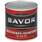 Savor Imports Quartered Artichoke Hearts, 3 Kilogram -- 6 per case.